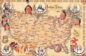 Esempflicazione della dstribuzine degli Indiani d'America e collocazione delle tribù