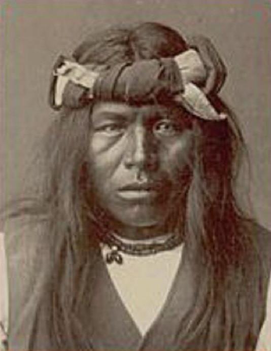 Tipico guerriero Apache. 1876