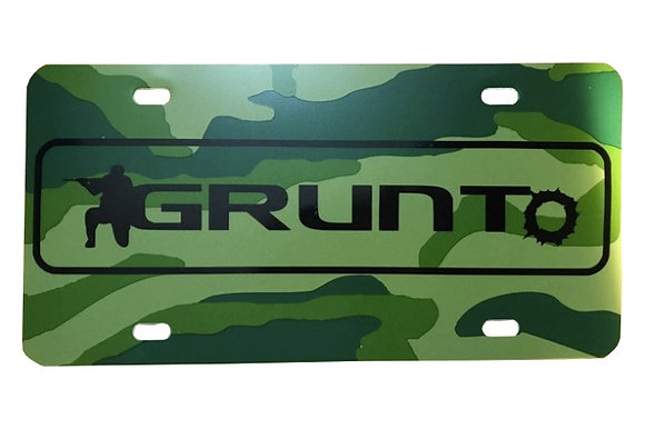 Woodland Tri-Color Plastic Plate with Black logo