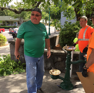 Vice-President Chris Malone Assists City Of Stevenson in Drinking Fountain Install