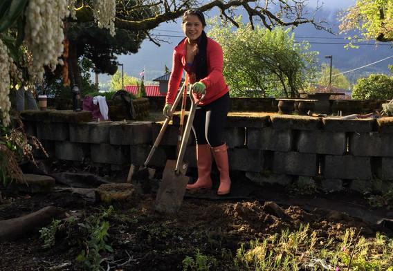 Digging the waterline