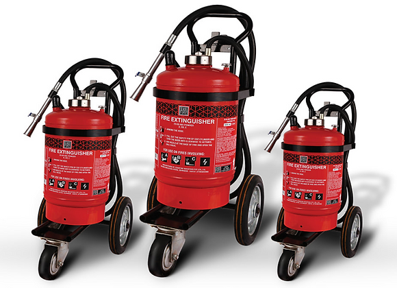 ABC Powder Fire Extinguishers (Trolley Mounted) Spot Pressure Type