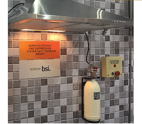 Domestic Kitchen Fire Suppression System (Wet Chemical Based)