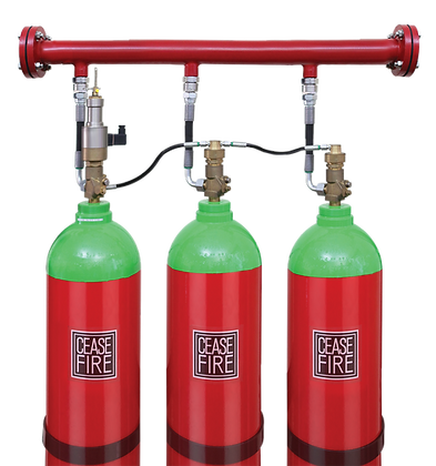 Inert Gas & CO2 Based Fire Suppression System