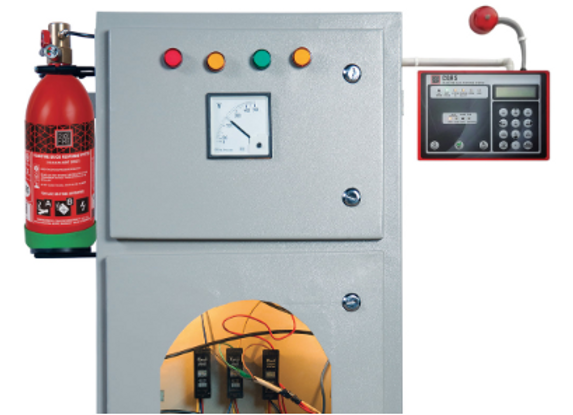 In-Panel Tube Based Fire Suppression System (CQRS)