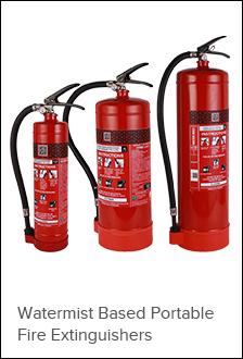 Watermist Based Portable Fire Extinguish