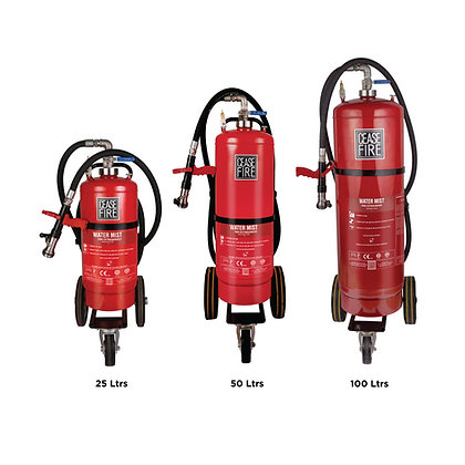 Watermist Based Trolley Mounted Fire Extinguishers