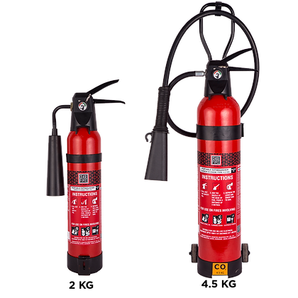 CO2 Based Squeeze Grip Type (Stored Pressure) Fire Extinguishers