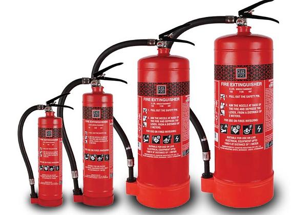 Portable Water Mist Based Extinguishers