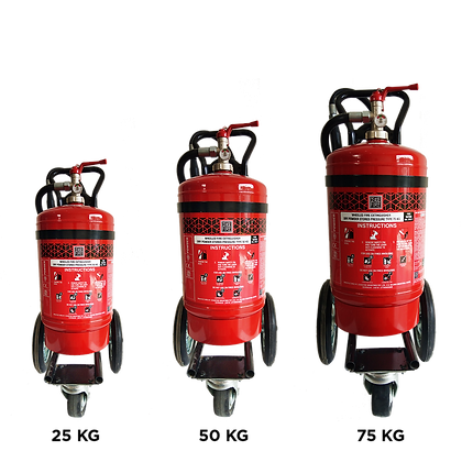 ABC Powder Based Wheeled (Stored Pressure Type) Fire Extinguishers