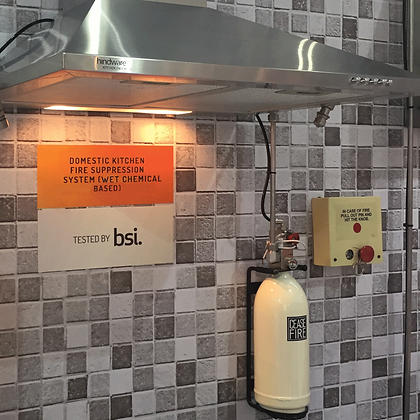 Domestic Kitchen Fire Suppression System (Wetchemical Based)