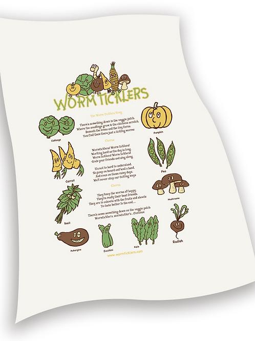 Wormticklers Song Tea Towel