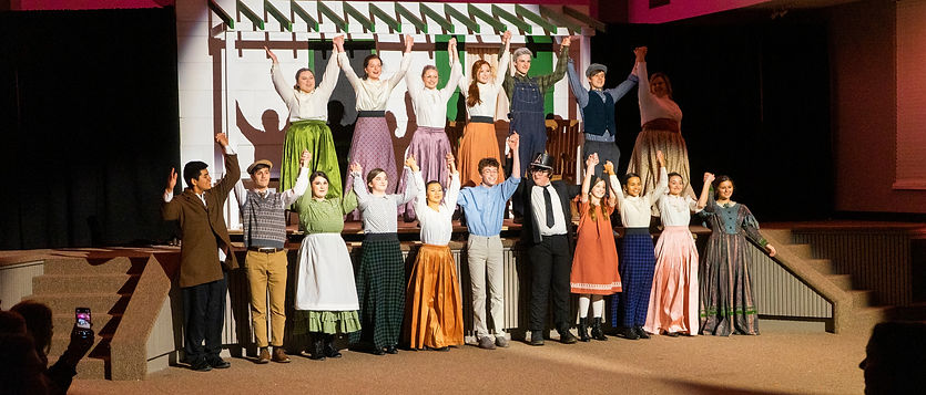 The cast of Anne of Green Gables taking their final bow.