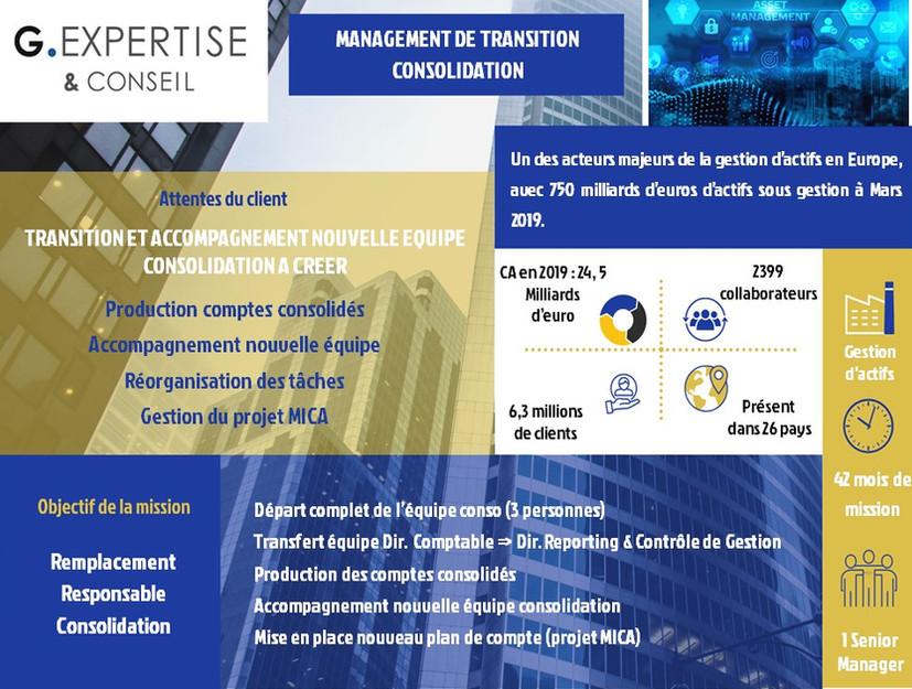 Management de Transition deConsolidation