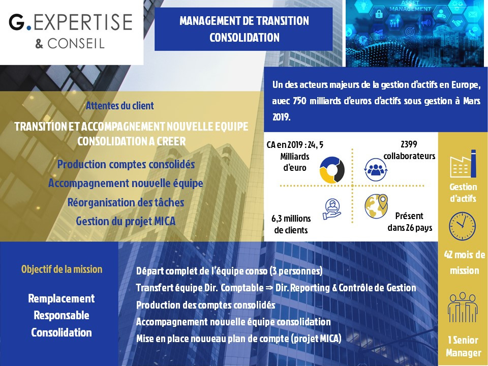 Management de Transition deConsolidation