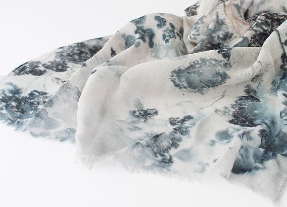 100% Wool Scarf - Blue Gum