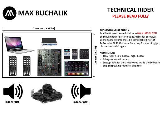 Technical rider big setup - Max Buchalik
