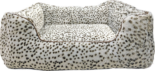 SMALL SNOW LEOPARD STEP-IN BED