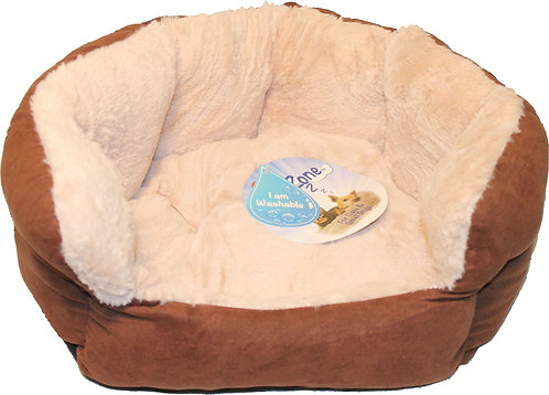 SMALL CHOCOLATE ZONE REVERSIBLE CUSHION BED