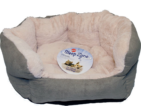 SMALL SAGE COLR REVERSIBLE CUSHION BED