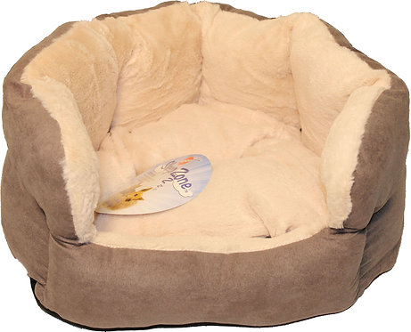 SMALL LIGHT GRAY COLOR REVERSIBLE CUSHION BED