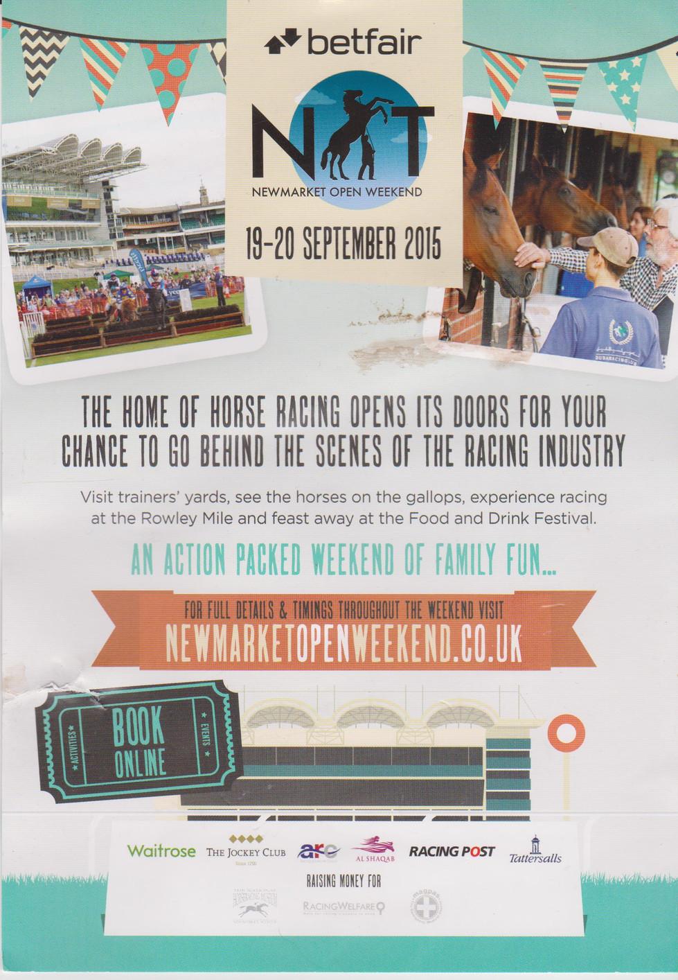 Newmarket Open Weekend - a resounding success