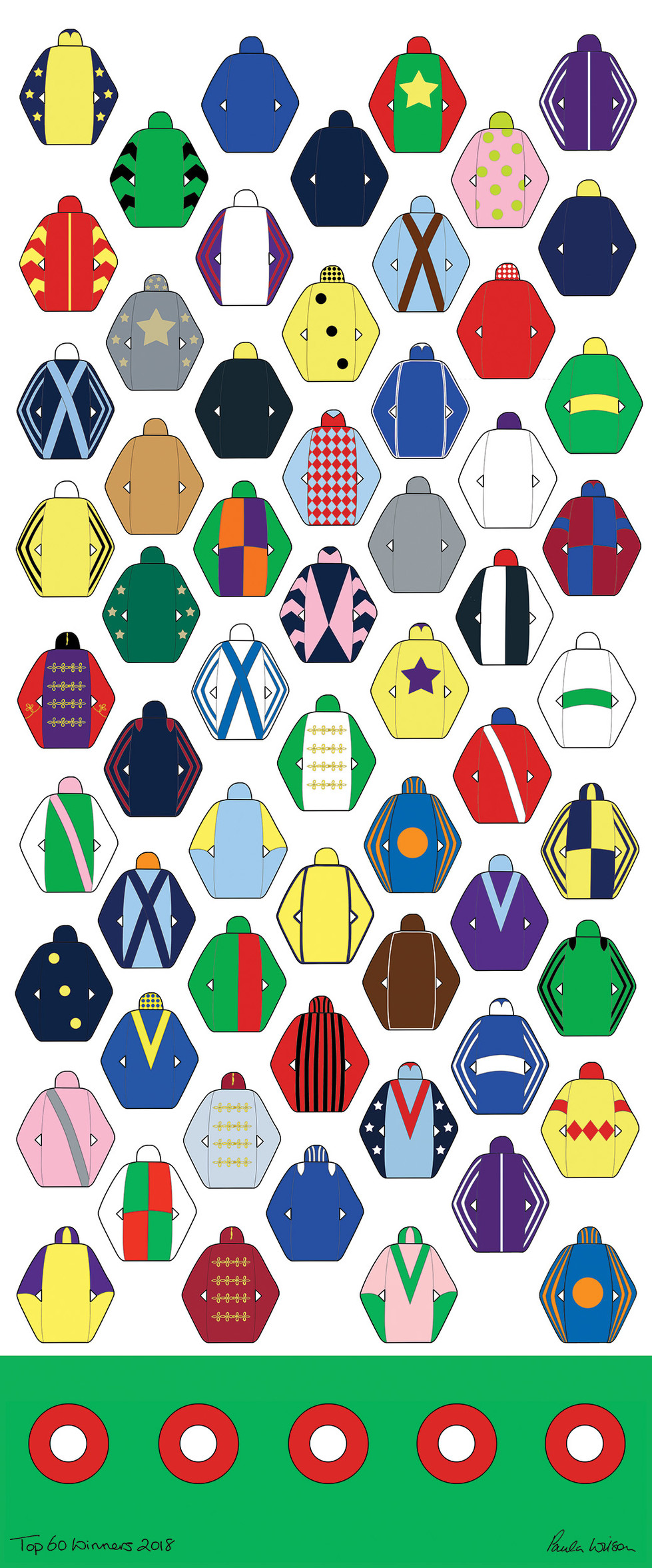 Are your Racing Colours on the              Top 60 Winners 2018?