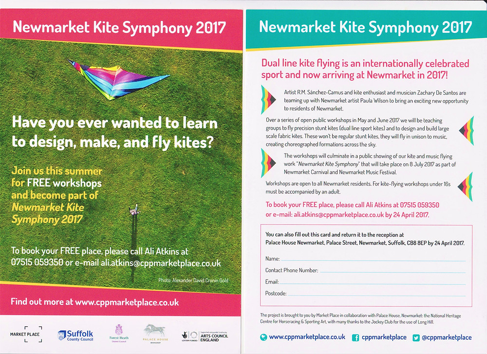 An invitation to Newmarket Kite Symphony project