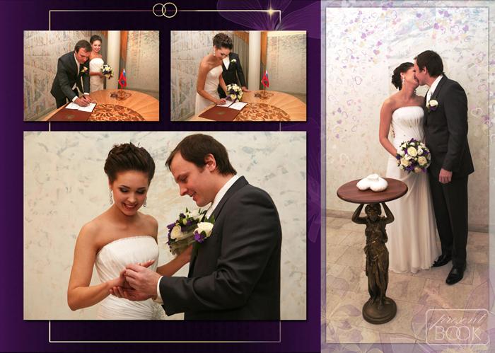 Свадебная фотокнига, стиль Классика