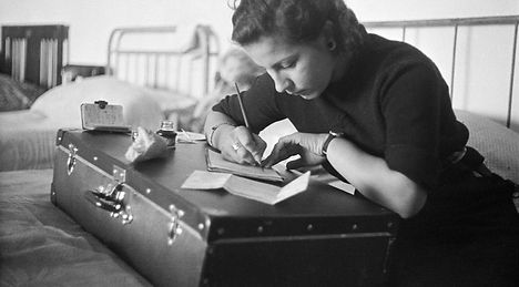 woman writing - chim - david seymour.jpg