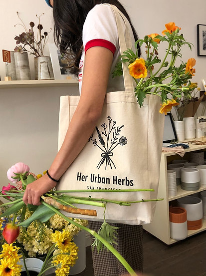 Her Urban Herbs Tote!