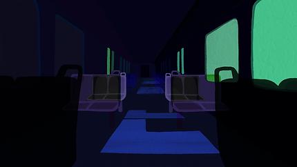A Dark Train Scene