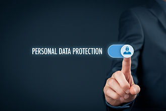 Personal data protection concept. Busine