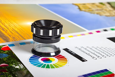 Print loupe on offset printed sheet with