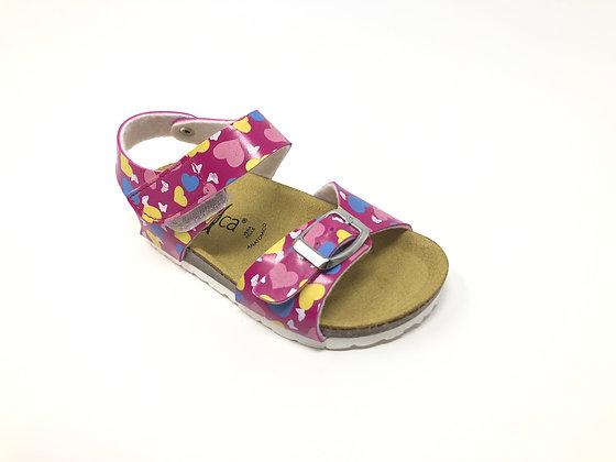 Sandalo da bambina a cuori dal 24 al 35 (EJ11A-R)
