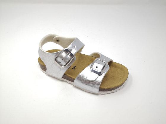 Sandalo da bambina argento dal 24 al 35 (GM40A-A)