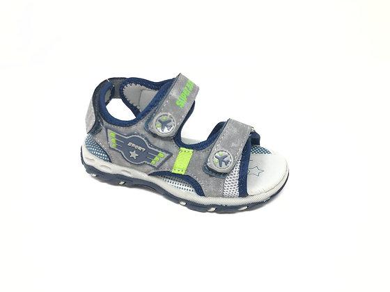 Sandalo da bambino grigio dal 25 al 29 SuperJump (SJ2020)