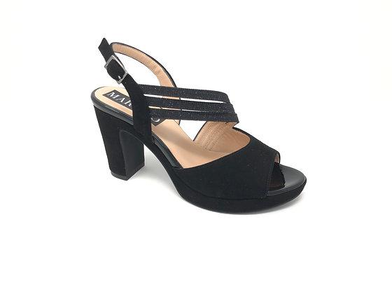Sandalo da donna nero con perline Martino (20322)