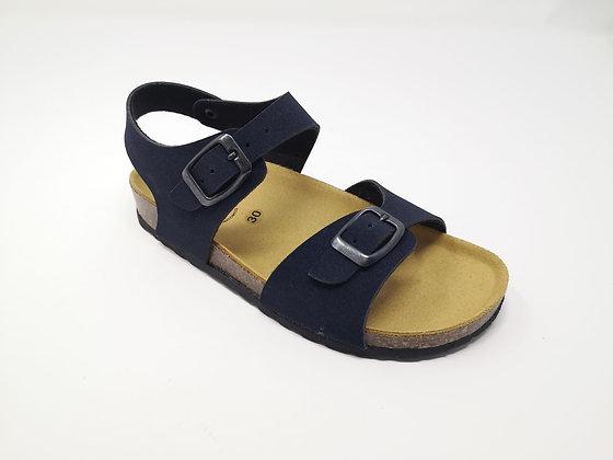 Sandalo da bambino blu con fibbia dal 30 al 35 (GM41B)