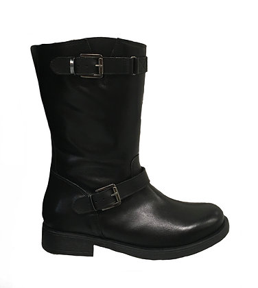 Stivale donna in pelle nero Made in Italy MARTINO (M174)
