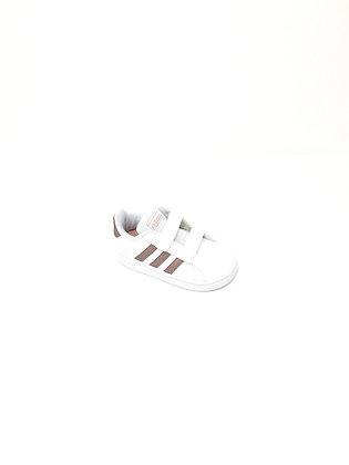 Scarpa Adidas bambina bianca e oro Gran Court I (EF0116)