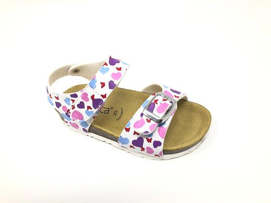 Sandalo bambina con cuori BIO dal 24 al 35 (EJ111A-B)