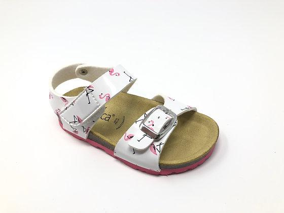 Sandalo con fenicotteri BIO dal 24 al 35 (EJ102A)