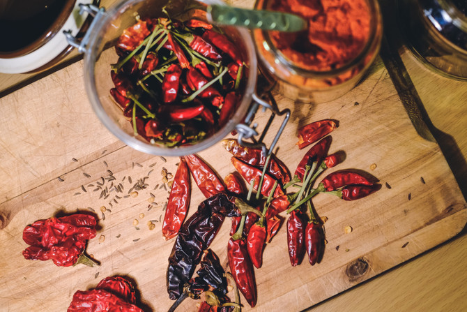 Torka chili - njutning året om
