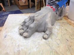 Gnarly ape foot