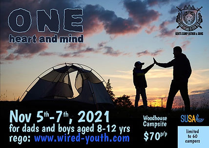 Gents Camp Father and Sons postcard 2021