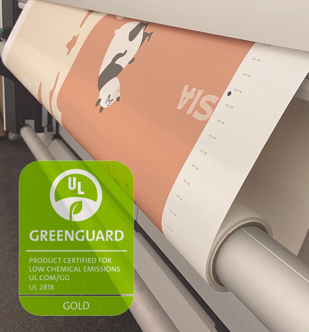 Wallpaper printing with a Greenguard Ink certification