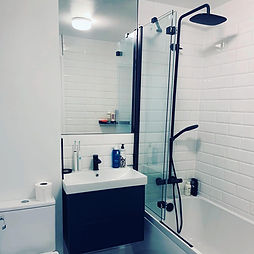 Bathroom with black fittings