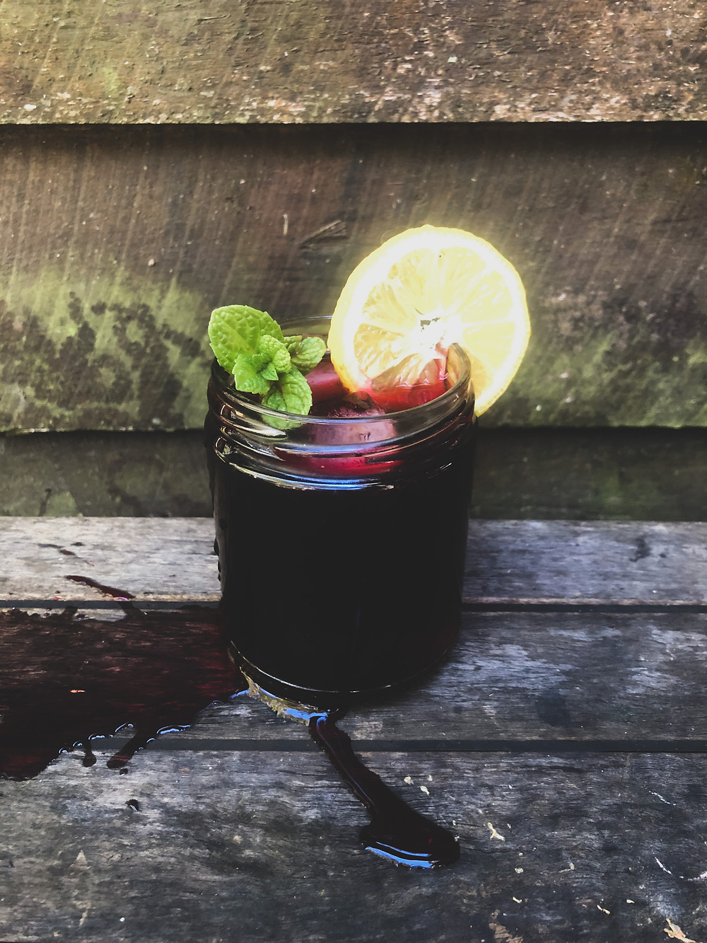 Iced hibiscus and tulsi tea recipe