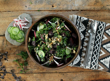 Edible wild greens: Cleansing springtime chickweed salad (vegan)